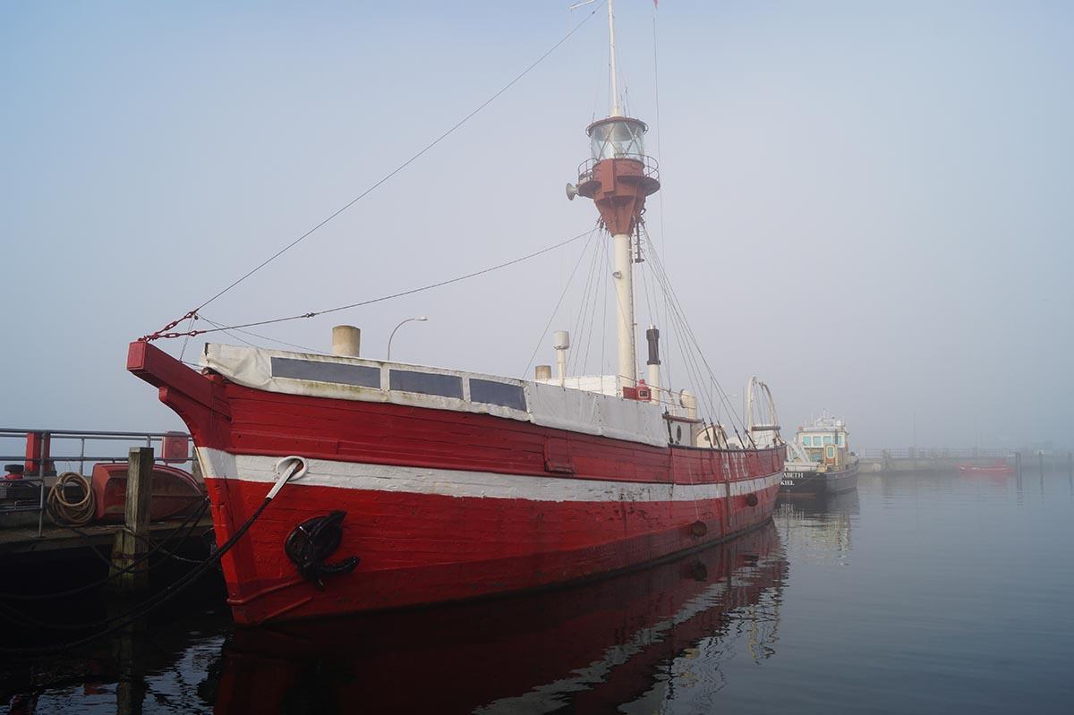 Feuerschiff im Kieler Hafen