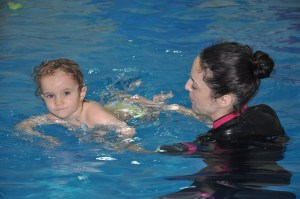 Look mama, I'm swimming