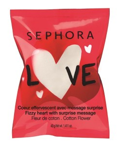 Valentine's day one-shot Fizzy heart with suprise message - Cotton flower scent BD