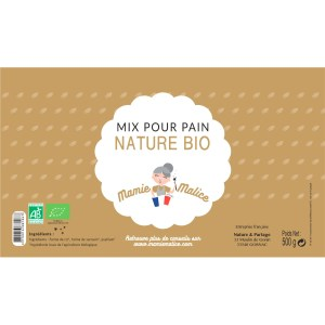 étiquette mix pain nature bio 500g