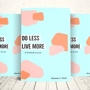 Do Less Live More Gratitude Journal