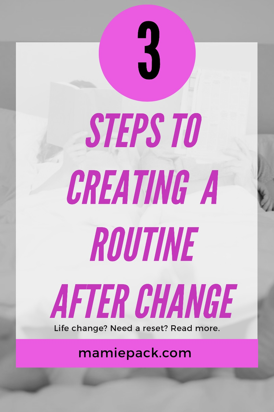 Creating a routine after change can be challenging for kids and families. As a parent and military family, adjusting to change is normal.  #change #miliaryfamily #routines