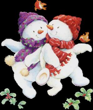 fête : NOEL  bonhommes de neige