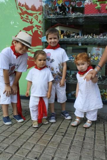 Los chicos Armendáriz con Cristina.