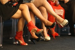 Zapatos de tacón en la Front Row