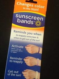 Estas bandas te avisan cuando es momento de volverte a aplicar protector solar.