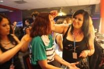 Todas las bloggers tuvimos la oportunidad de que nos peinaran y maquillaran.