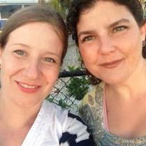Con mi amiga Ana. Ya en nuestro tercer ciclo de amistad.