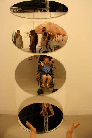 Las obras con espejos fueron de sus favoritas.