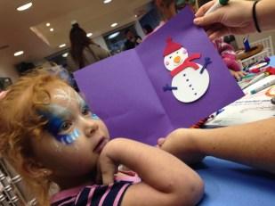 Cristina hizo esta linda tarjeta de Navidad.