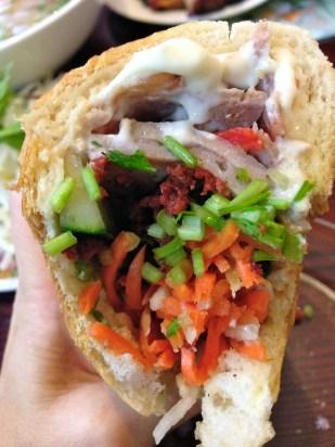 Es la primera vez que pruebo estos recomendadísimos sandwiches vietnamitas.