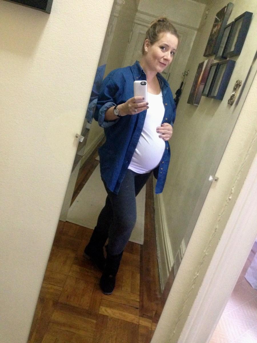 Sobreviviendo el embarazo (y el invierno) con dos pares de leggings