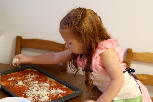 Pizza night with kids