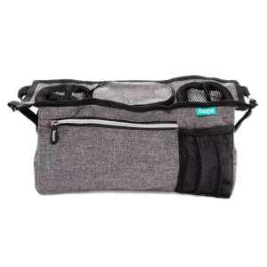 Rendszerező táska babakocsira - szürke melange