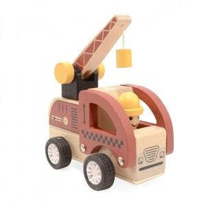 Fa hátrahúzhatós munkagép | darus autó
