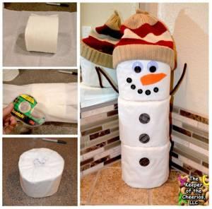 Toilet-Paper-Snowman-Craft