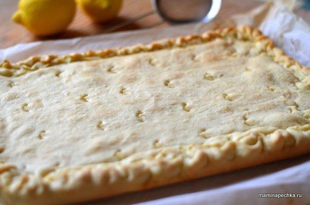 Классический лимонный пирог - рецепт пошаговый с фото