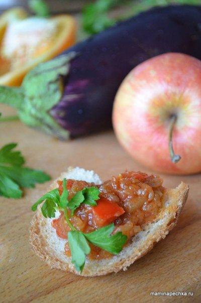 Икра из баклажанов с яблоками