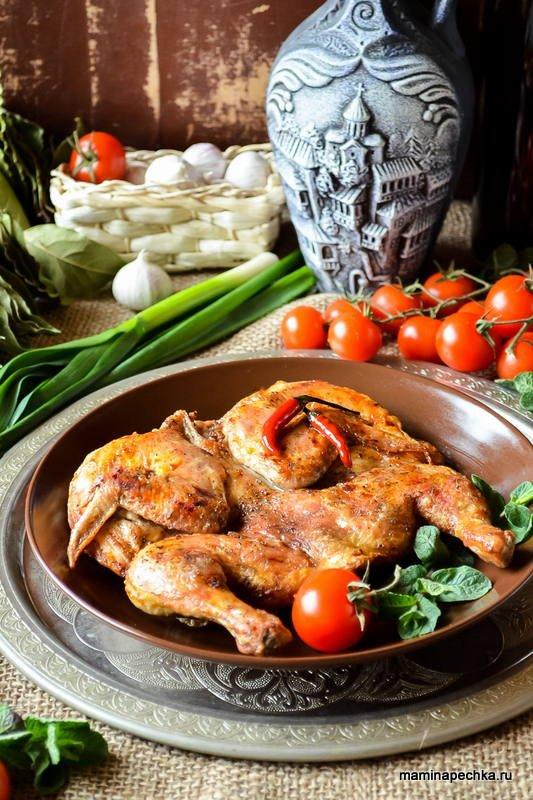 Цыплёнок Табака на сковороде