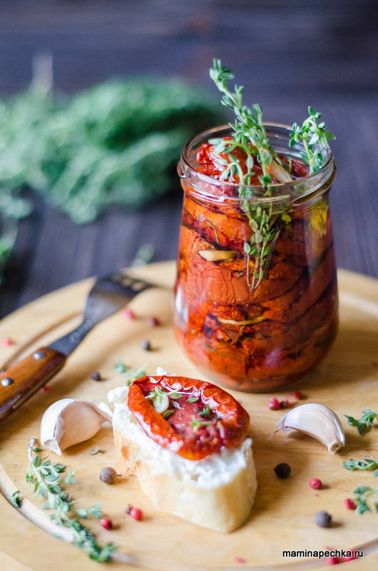 Вяленые помидоры в духовке в домашних условиях рецепт с фото