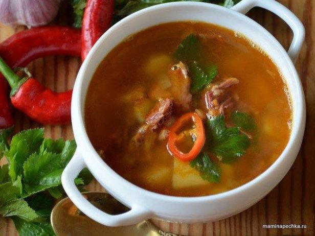 суп с хамоном