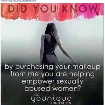 Younique and empowering sexually abused women