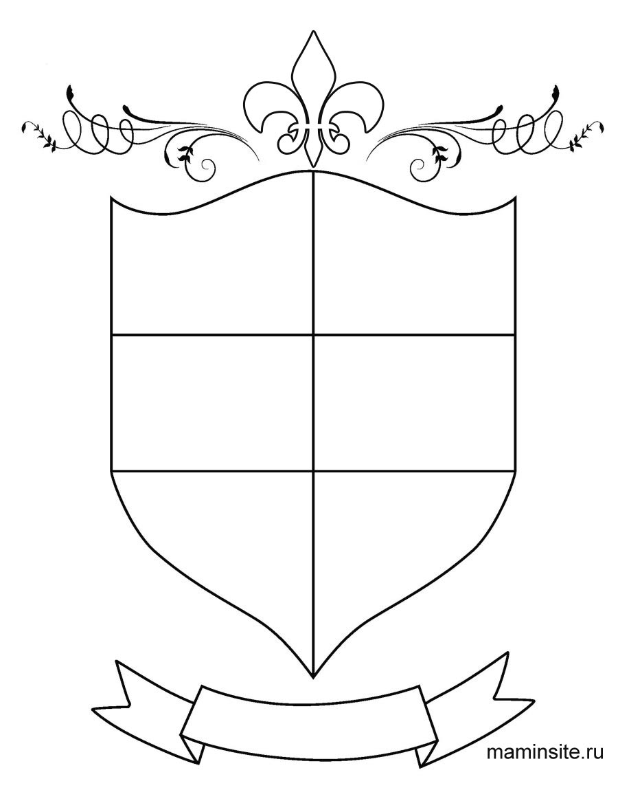 Knights Coats Of Arms Template