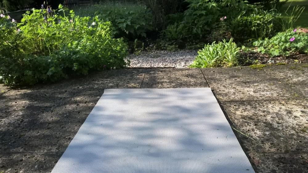 Yogamatte und die Motivation für gute Vorsätze