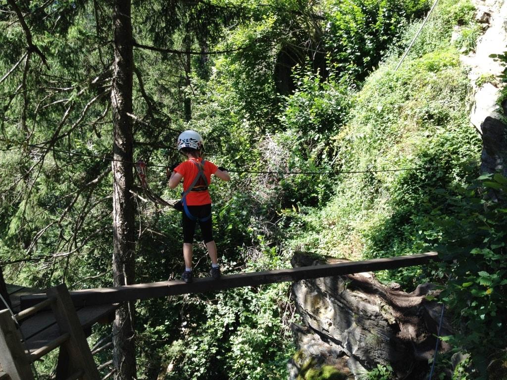 Kinder Klettersteig Mayrhofen: Obstacles