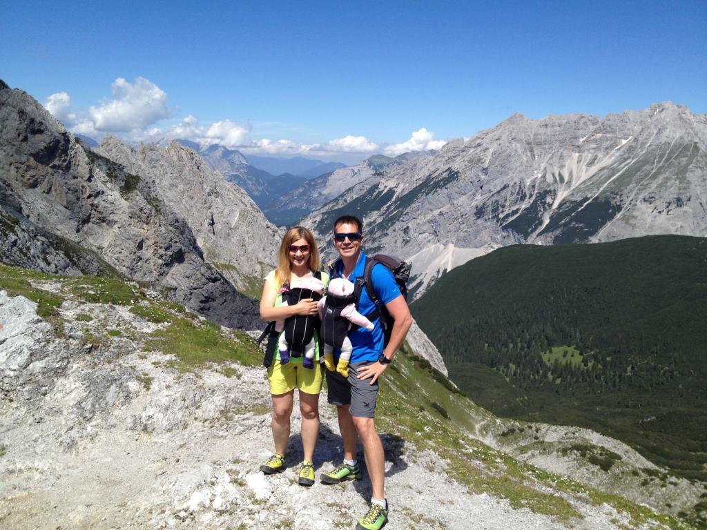 Nordketter Goethewef: View of the Karwendel Mountains