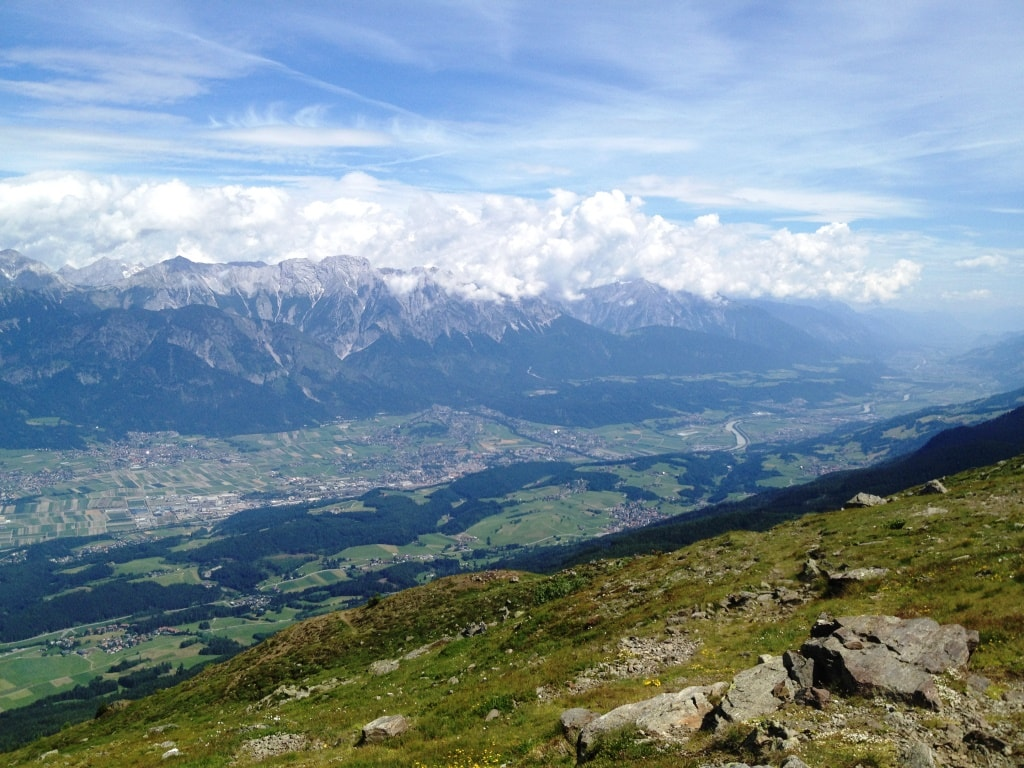 Hiking with Baby around Innsbruck: View of the Inn Valey