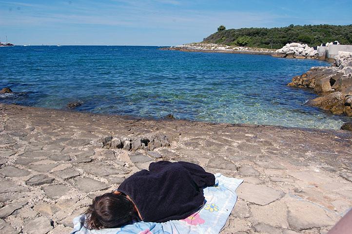 Campen in Istrien mit Kind