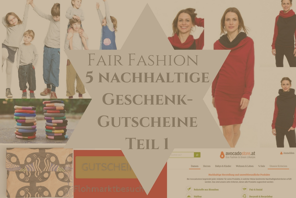 Fair Fashion - 5 Gutscheine für nachhaltige Geschenke