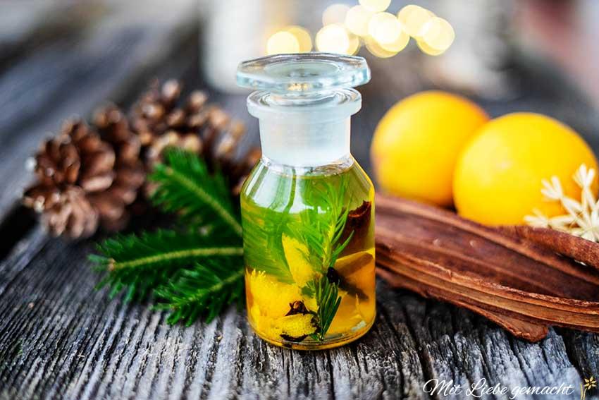 Selbstgemachte Weihnachtsgeschenke: Winterzauberöl DIY von Mit Liebe gemacht: Körperöl für gepflegte Haut