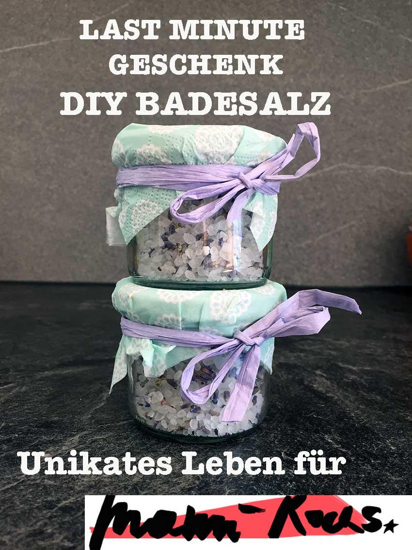 Geschenke in letzter Minute: DIY Badesalz Lavendel