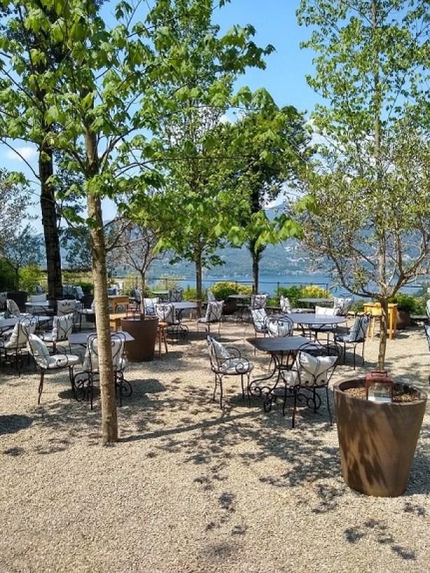 La Cusina della Darbia Restaurant's terrace overlooking Lake Orta