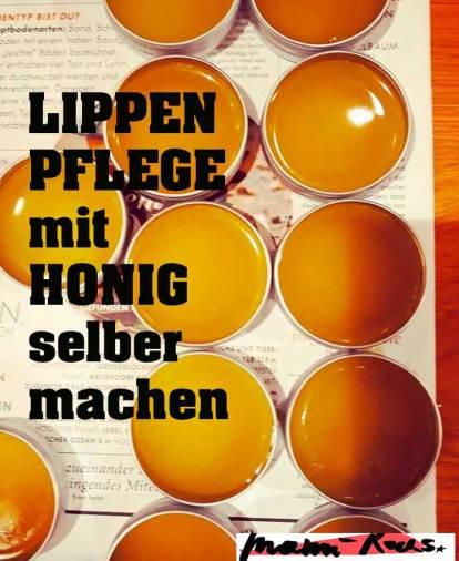 Lippenpflege DIY mit Honig selbermachen