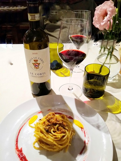 Dinner at Osteria Le Corti during Gourmet Tour of Tuscany