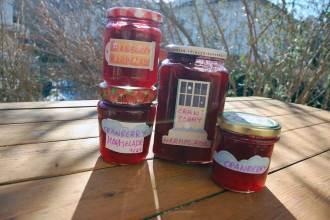 Preiselbeeren und Cranberry-Marmelade einkochen