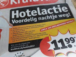 Kruidvat hotelactie