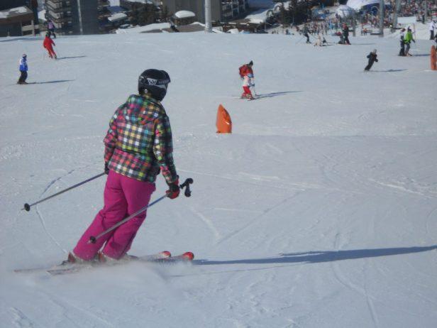 mijn oude vertrouwde wintersport outfit aan.