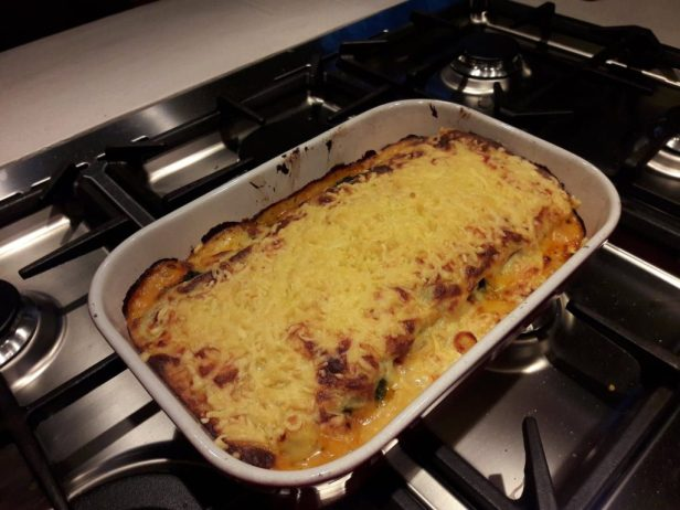 HelloFresh vegetarische lasagne