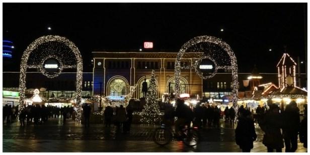 een van de kerstmarkten in Hannover