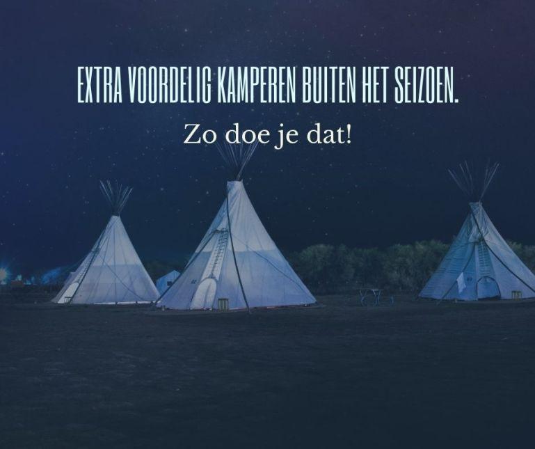 Met deze 4 campingkaarten kampeer je voordelig buiten het seizoen