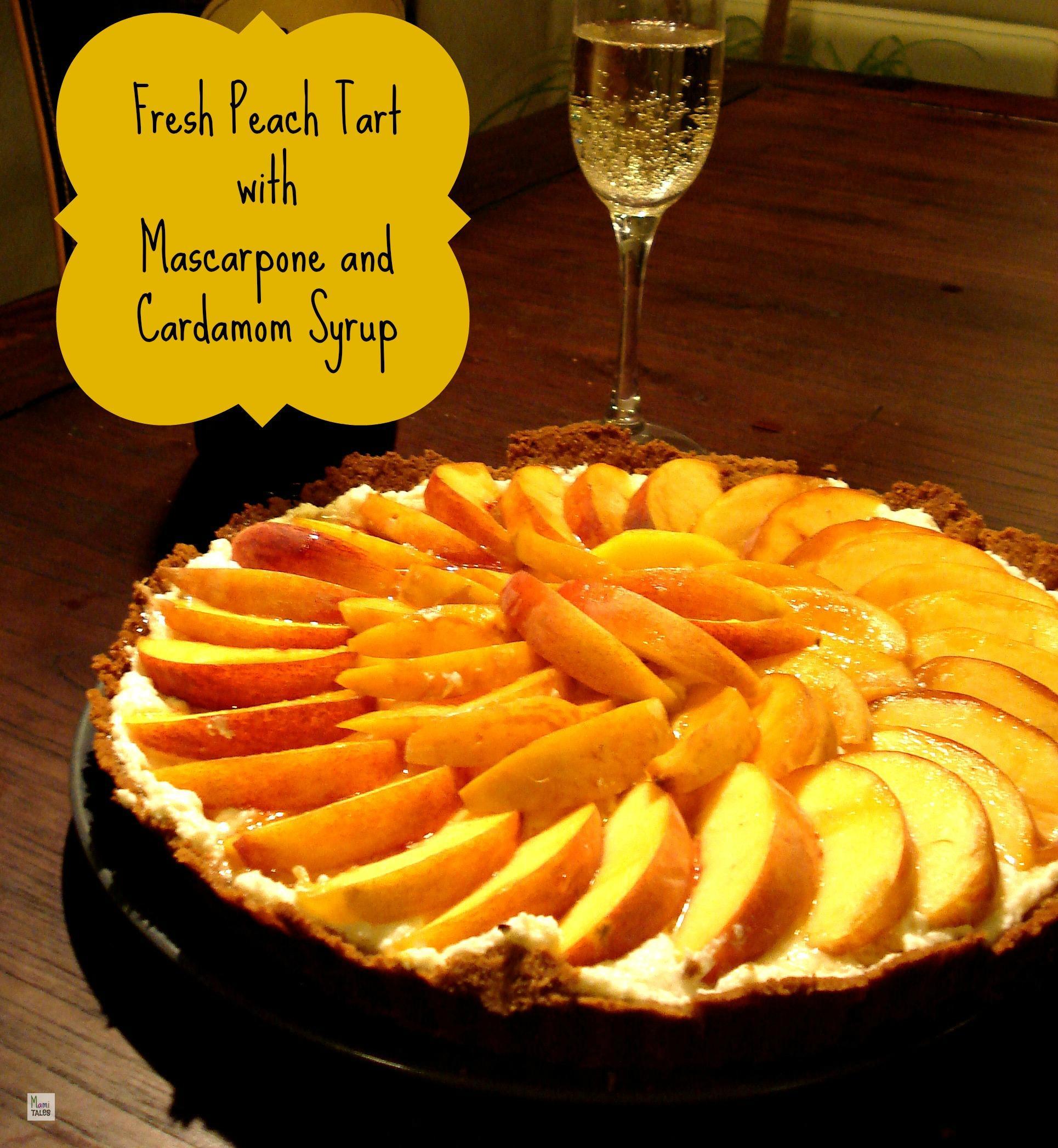 Peach Tart with Mascarpone and Cardamom - Mami Tales