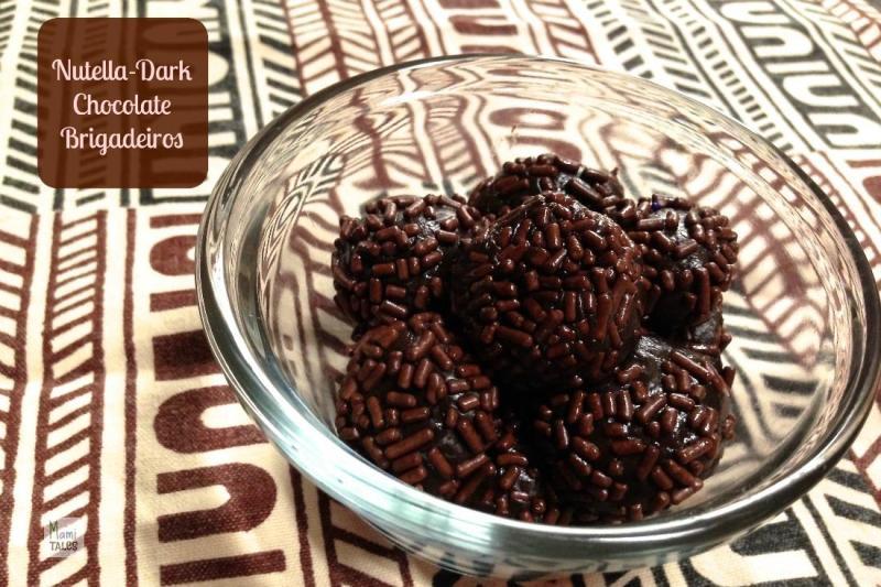 Dark Chocolate Nutella Brigadeiros