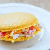 Arepa con atún y queso - Tuna Salad Arepas