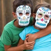 Printable Sugar Skull Masks for Day of the Dead