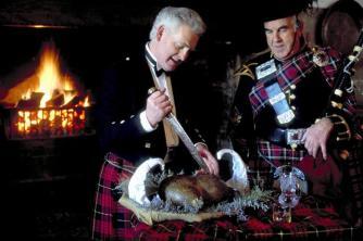 HAGGIS DRESSED FOR BURNS SUPPER, Scotland.