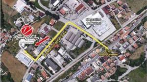 Mappa Tennis Village Teramo
